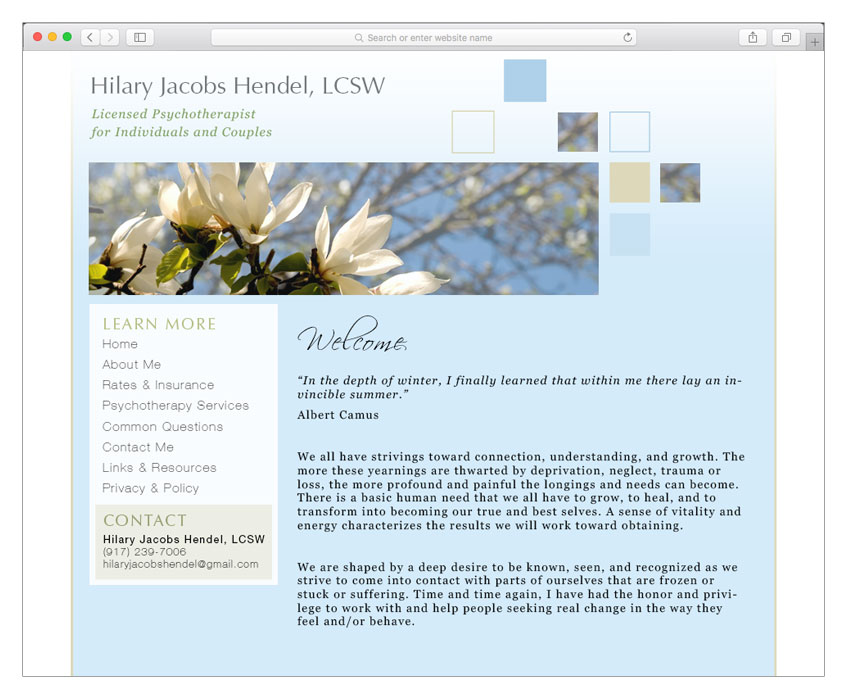 therapist website design nyc