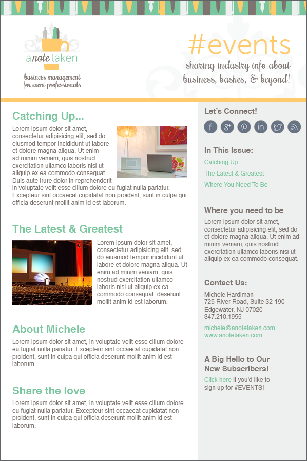 event management email design
