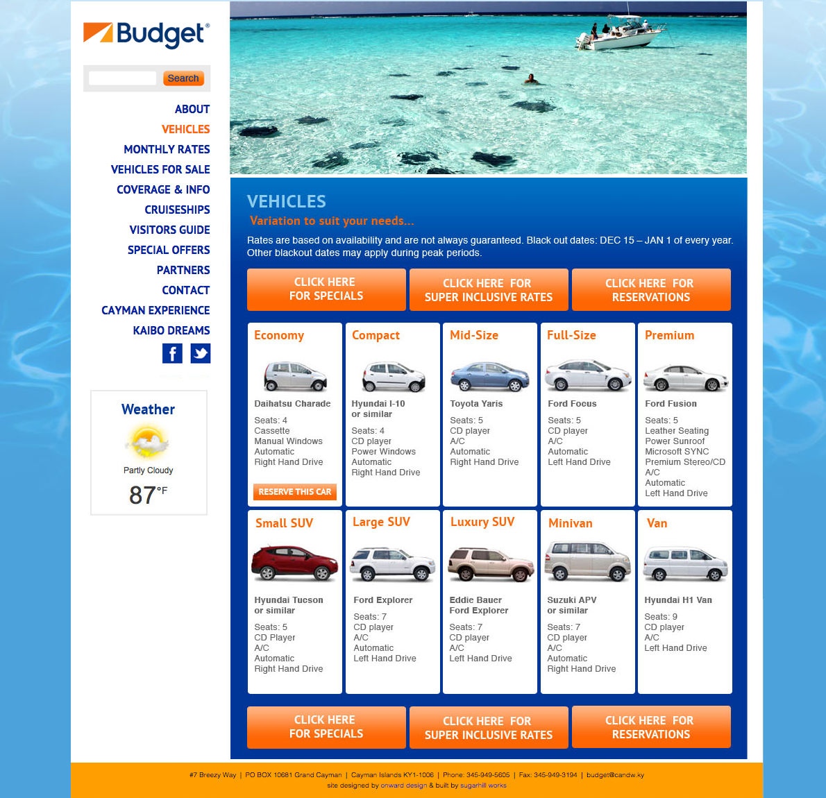 car rental website design nyc