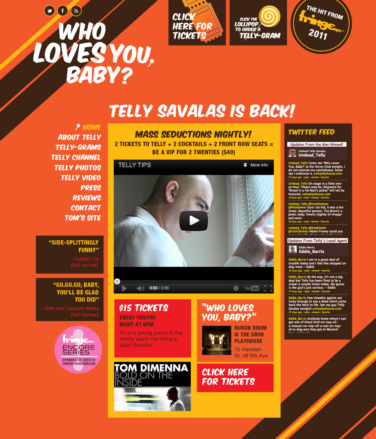 comedian website design nyc