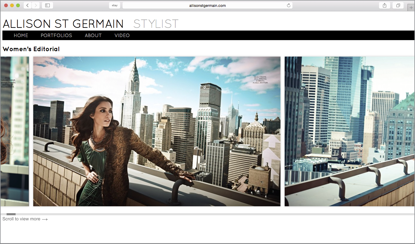 stylist website design nyc