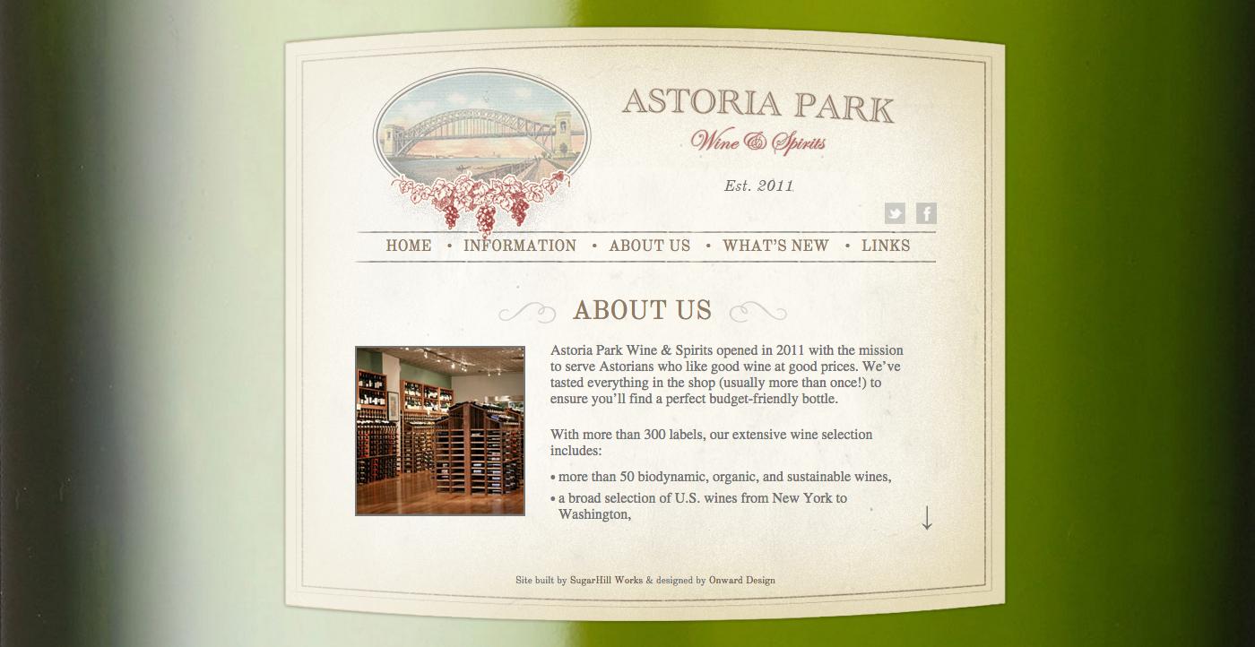nyc wine shop website design nyc