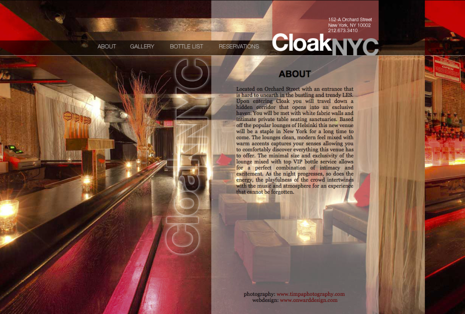 lounge website design nyc