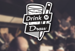 drink and draw logo design nyc