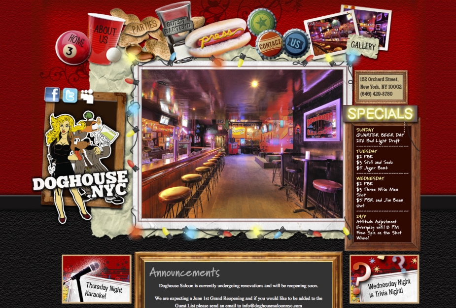 nyc bar website design