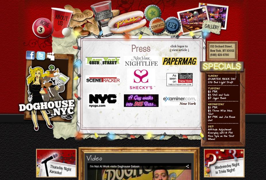 nyc bar website design