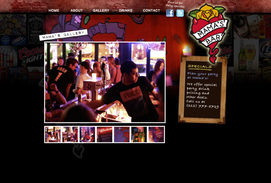 bar website design nyc