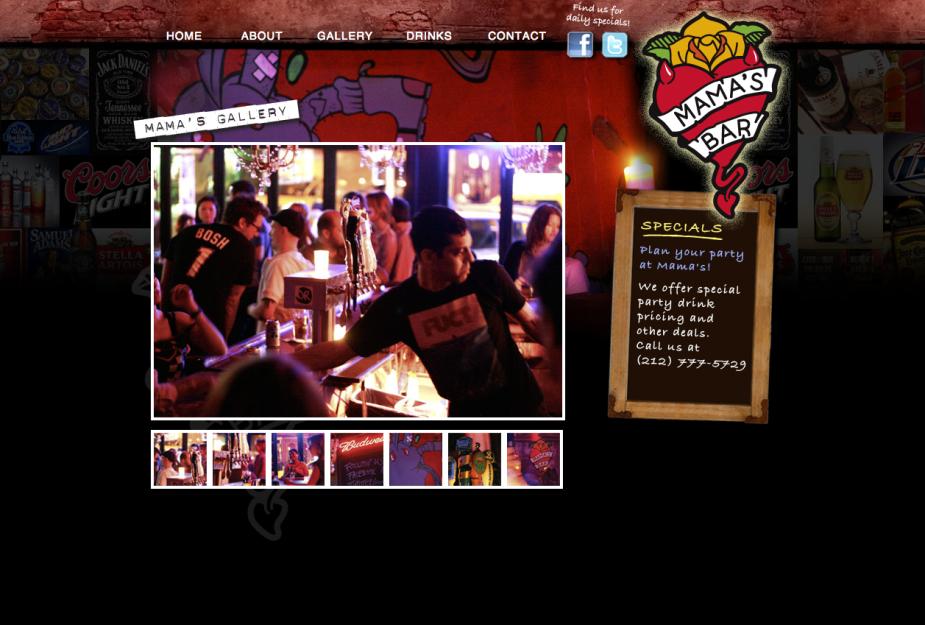 bar website design nyc