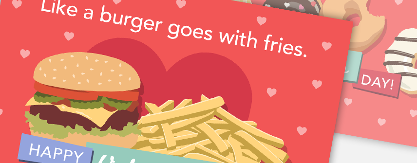 valentines holiday card design