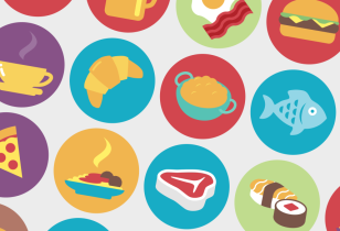 cute food icon design nyc