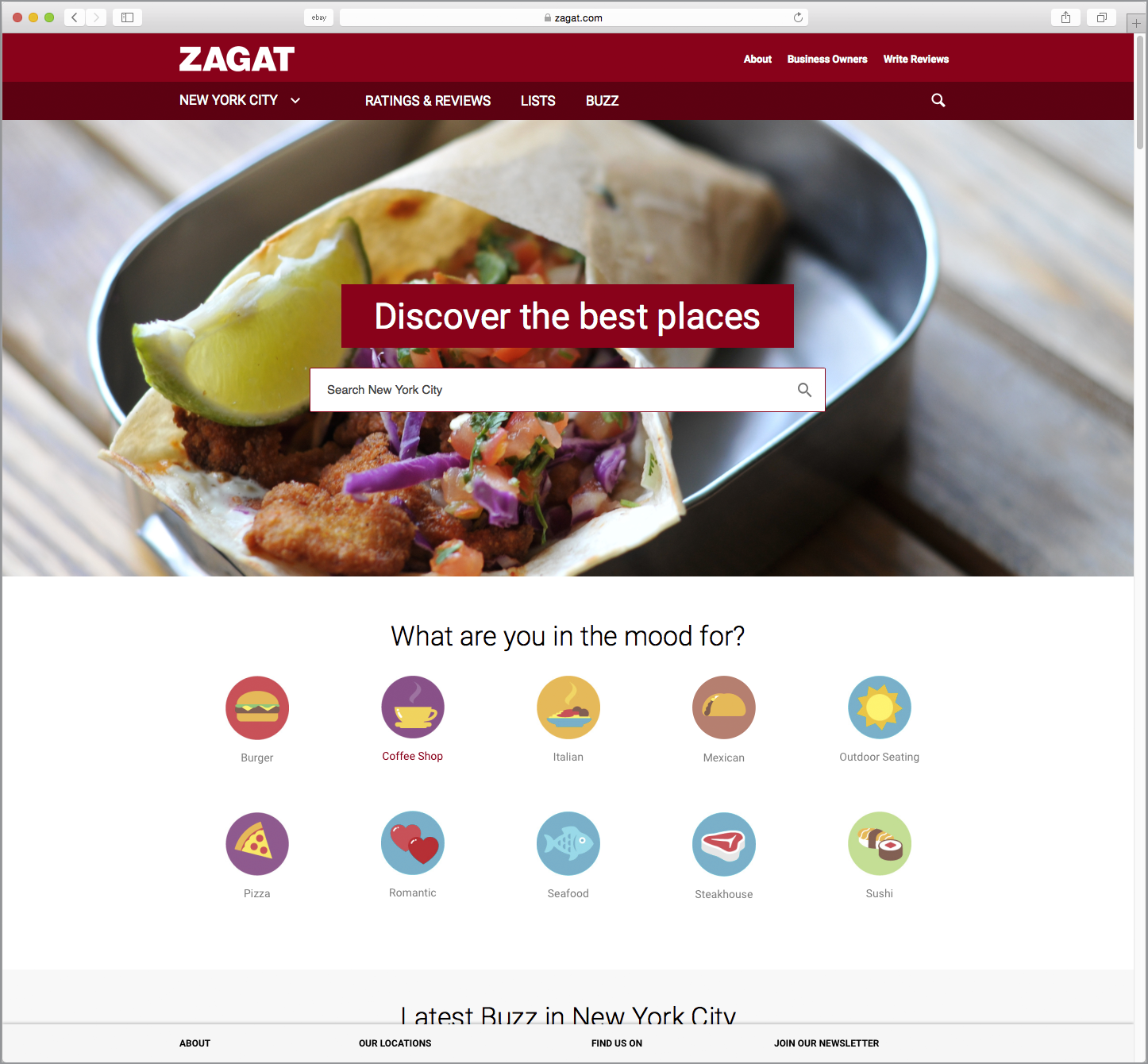 zagat food icon design nyc