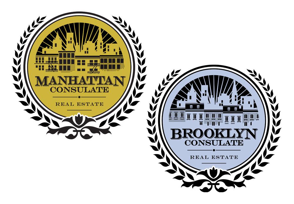 consulate real estate logo design