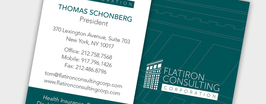 consulting company business card