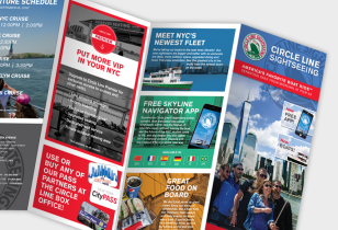 cruise brochure design