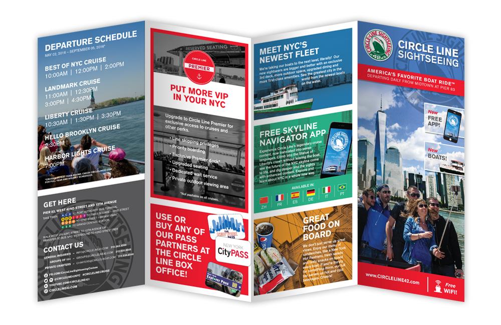 circle line cruise brochure design