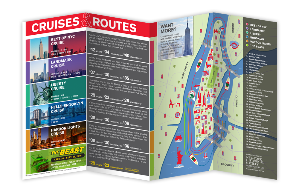 cruise brochure design nyc