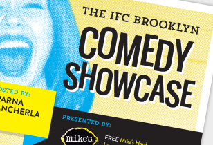 brooklyn comedy showcase poster design