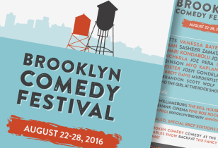 brooklyn comedy festival design identity
