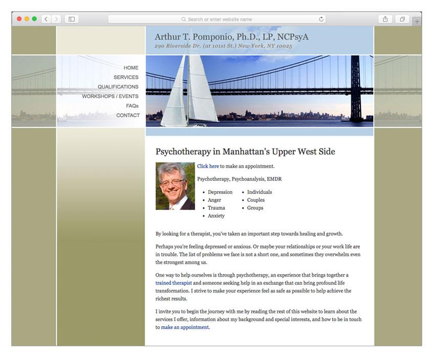 psychologist psychotherapist web design nyc