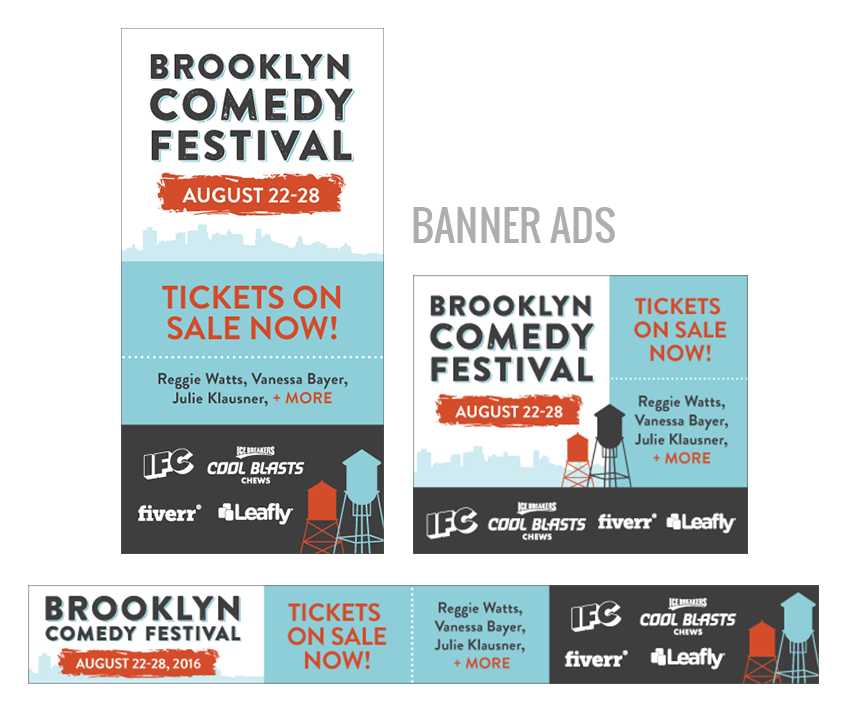 brooklyn comedy festival banner ads
