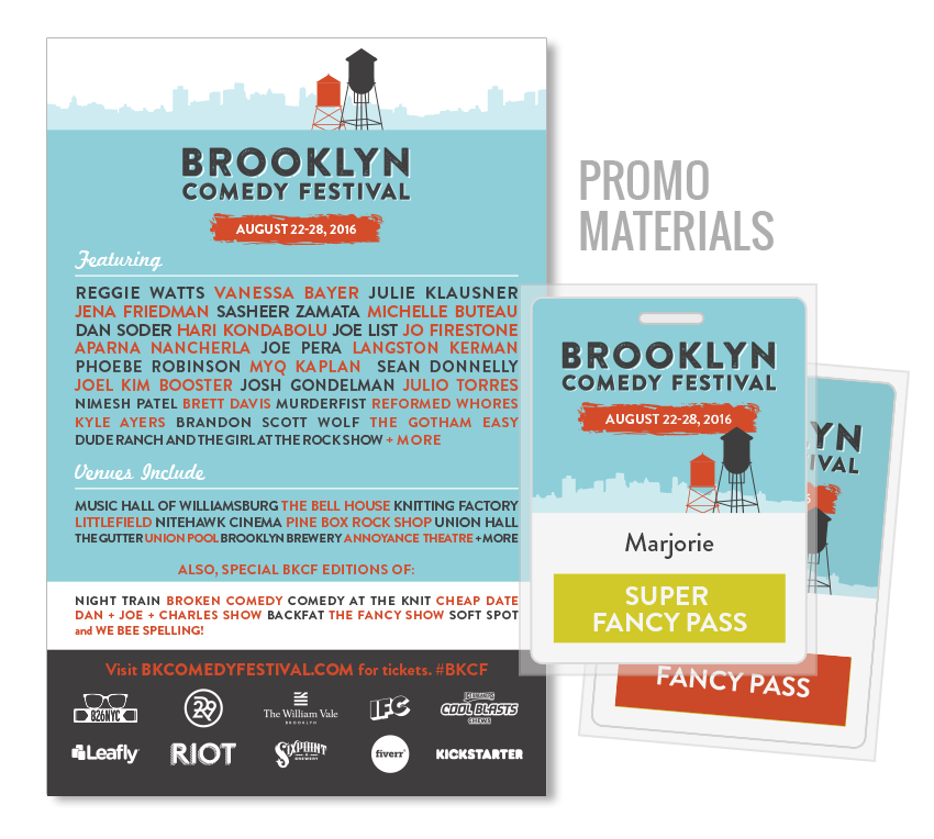 brooklyn comedy festival promotion design