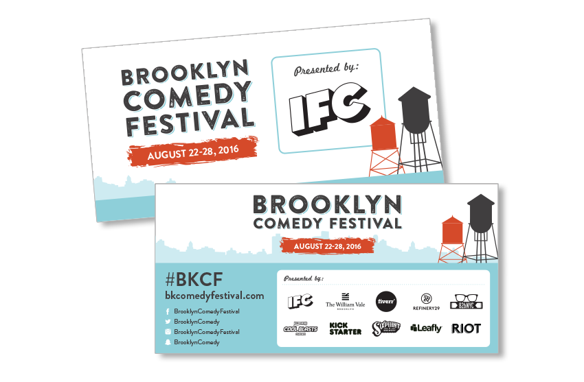 brooklyn comedy festival banner design