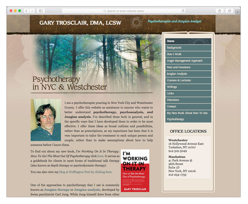 psychologist psychotherapist web design nyc