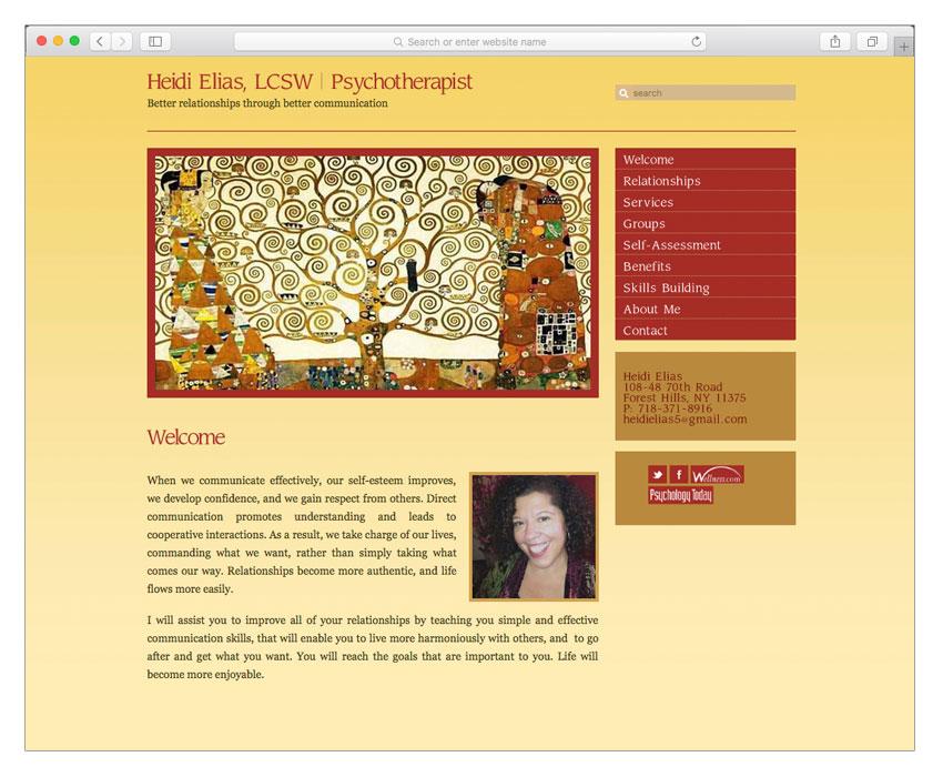 women psychotherapist website design nyc