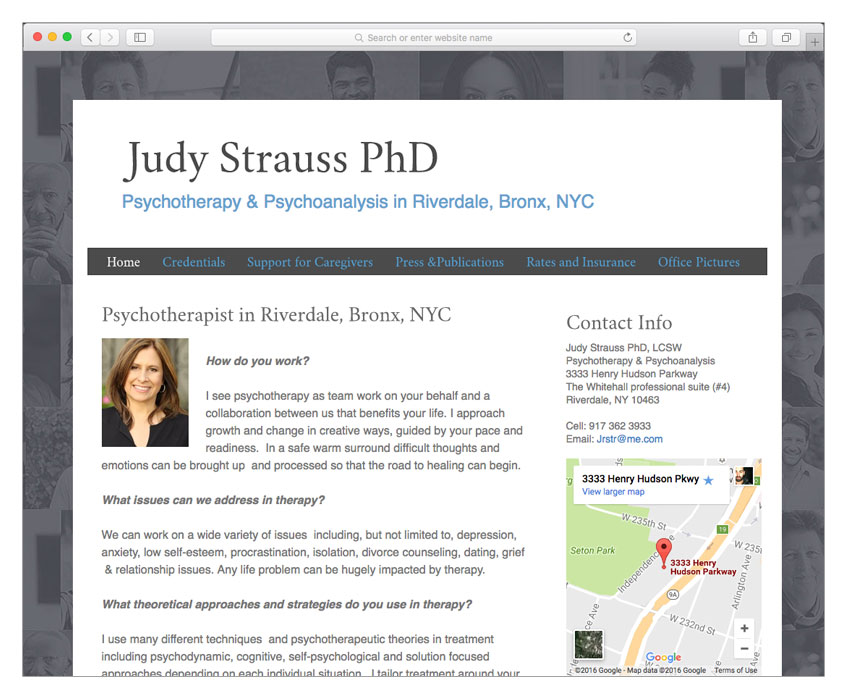 therapist website design nyc