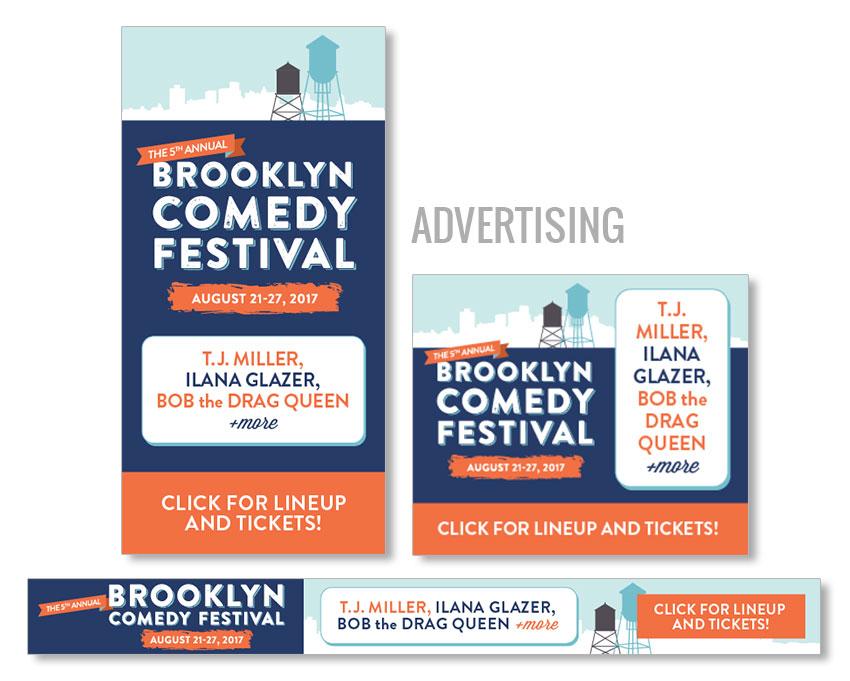comedy festival banner ad design