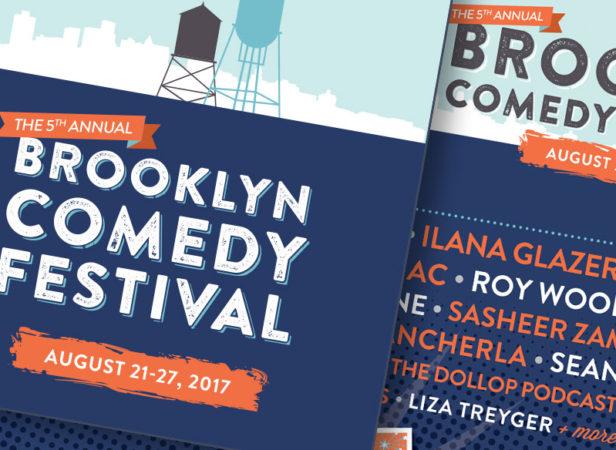 comedy festival design identity