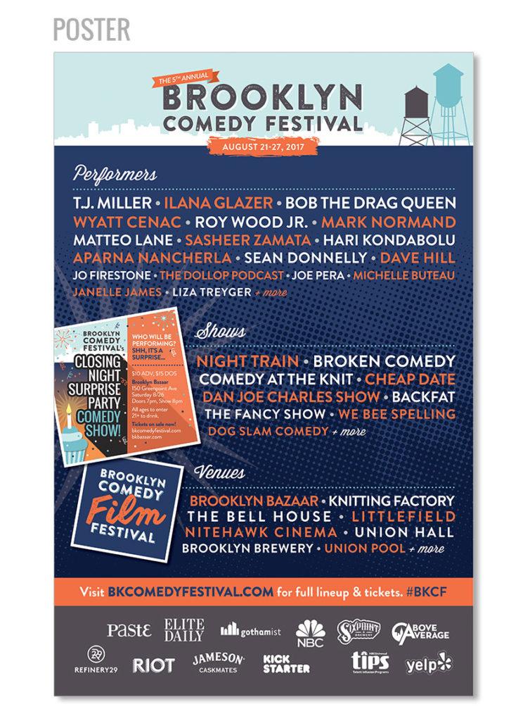 comedy festival poster design