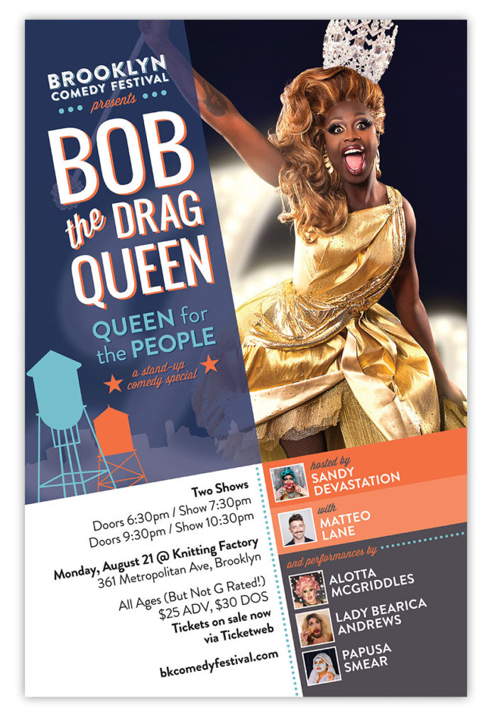 bob the drag queen comedy poster design