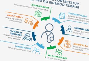 pharma corporate infographics