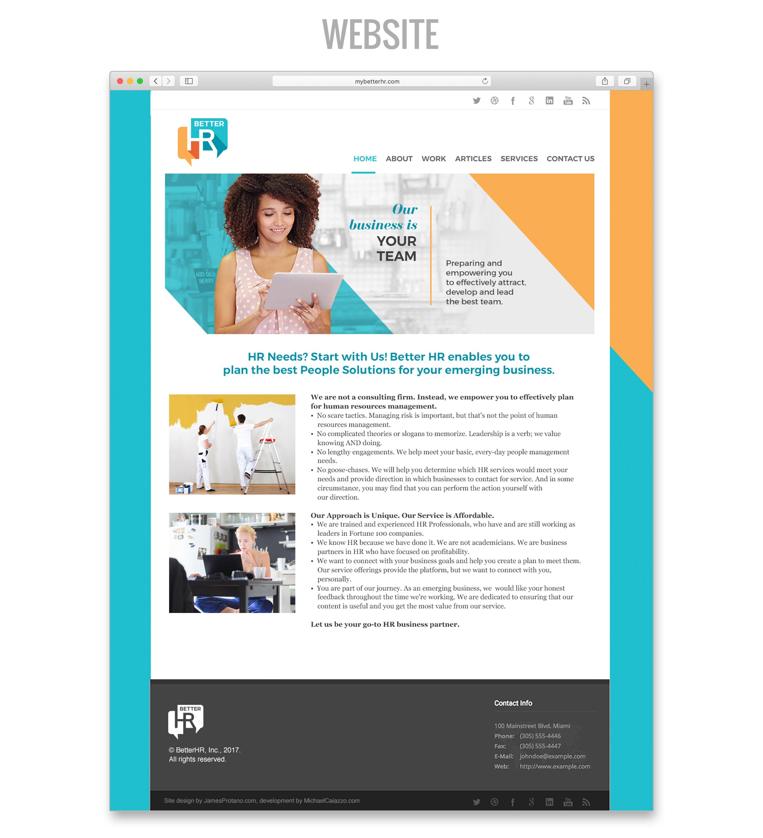 hr website design identity