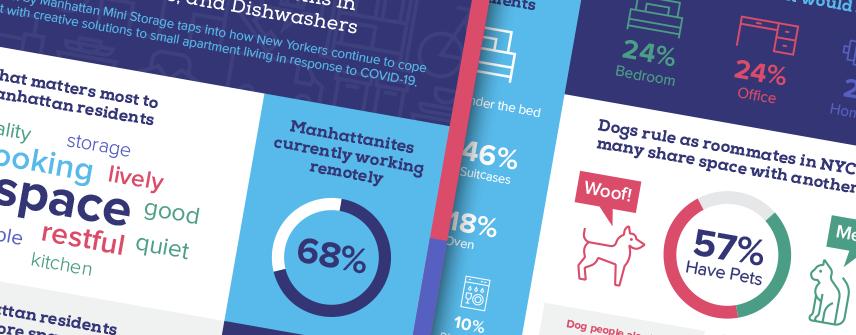 manhattan mini storage infographic design nyc